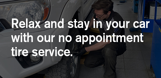 Stay in your car tire service